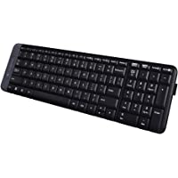 Logitech K230 Compact Wireless Keyboard for Windows, 2.4GHz Wireless with USB Unifying Receiver, Space-Saving Design, 2…