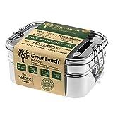 Grande 3en 1en acier inoxydable Bento Lunch Box + Gratuit Vie Warranty| pour 6tasses de nourriture + Bonus Pod Insert |top-grade durable en acier inoxydable | Eco-safe et sains | Parfait pour les enfants + adultes