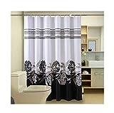 MMZHM Badezimmer-Duschvorhang Wasserdichtes Verdickung Mildewproof Badezimmer-Trennvorhang, der Vorhang Polyester, 300 * 200cm zieht
