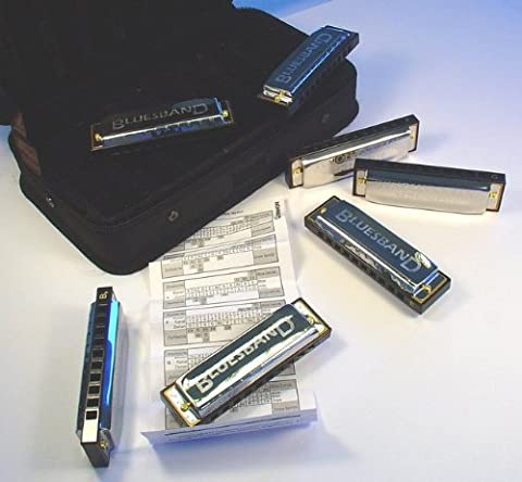 HOHNER HOM91105 Blues Harmonica 7-piece Set (incl. carrying case)