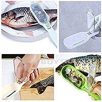 guoguod pescado escala rascador escalas de pescados Remover Escalador Limpiador rápido cepillo limpiador con tapa