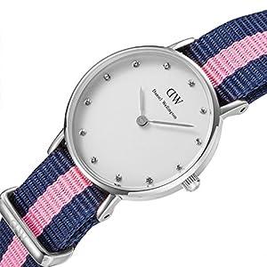 Daniel Wellington 0926DW - Reloj de cuarzo para mujer, con correa de nailon, color multicolor de Daniel Wellington