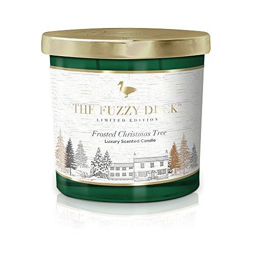 Baylis & Harding Fuzzy Duck Winter Wonderland Gefrorener Weihnachtsbaum Luxus Doppel-Docht Kerze - Grün Gefrorenen Glas
