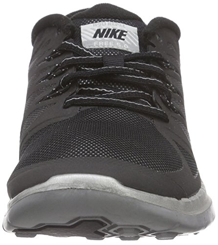 Nike Free 5.0 Flash (Gs), Chaussures de Running mixte enfant Noir (black/reflect Silver-wolf Grey 001)