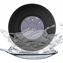 Generica - Altavoz Bluetooth con ventosa resistente al agua ideal Ducha Negro