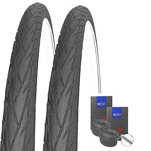 Set: 2X Schwalbe Energizer Plus Reflex E-Bike Reifen 40-622/28x1.50 +Schwalbe SCHLÄUCHE Autoventil