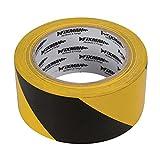 Silverline Fixman 190195 Black & Yellow Adhesive Hazard Tape 50mm x 33m