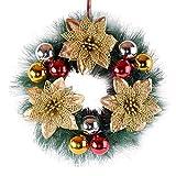 30cm Schöne Frohe Weihnachten Kranz Girlande Ornamente Weihnachten Festival Urlaub Party Dekorationen für Haustür Windows Schaufenster
