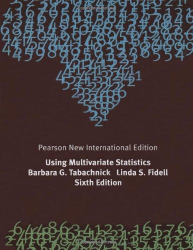 Using Multivariate Statistics: Pearson New International Edition por Barbara G. Tabachnick, Linda S. Fidell
