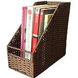 TZSMSSH Jewelry Box Cartella di archiviazione Scatola di Carta Cartella Cestino Intrecciato Installare Un Libro con Documenti di Formato.libreria for Ufficio (Colore : Marrone)