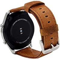 """18mm Cinturino Braccialetto Pinhen Vera pelle Crazy Horse polso di Ricambio per Huawei Watch W1, Huawei fit, Withings Activite, Activité Pop, Withings Steel HR 36mm, Asus Zenwatch 2 1.45"""" (18mm Brown)"""
