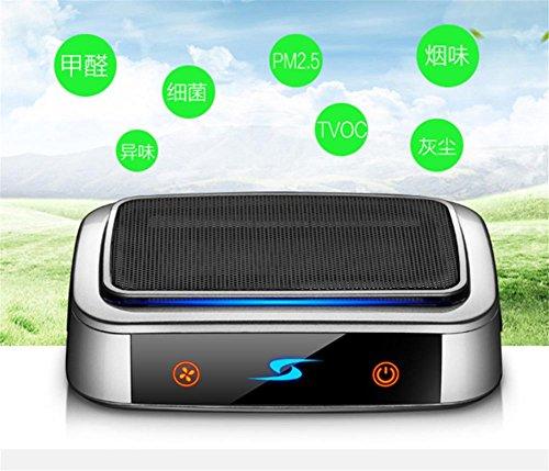 SHIAHNG Neues Auto Luftreiniger negatives Ion zusätzlich zu Formaldehyd Dunst Aroma Reinigung Ein Maschine Dual-Gebrauch Auto Geschenke Lufterfrischer Touch (Nebel Dunst Maschine)