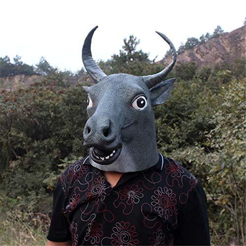 NUOKAI Tauren Kopfbedeckung Maske Hund Ma Jun Buffalo Maske Grün ()