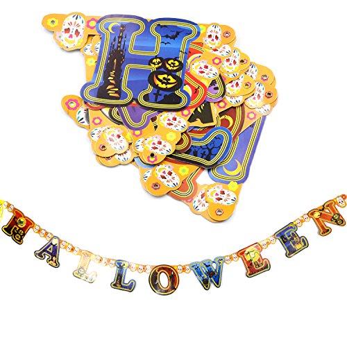 Trixes spukige Happy Halloween Deko Girlande (Halloween Hexen-magie, Cartoon)