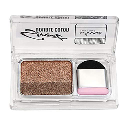 SMILEQ® Mode 2 Color Lazy Eye Shadow Puder Rainbow Shimmer Makeup Beauty Shadow (1 X, H) -