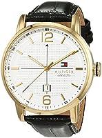Reloj analógico para hombre Tommy Hilfiger 1791218, mecanismo de cuarzo, diseño clásico, correa de piel. de Tommy Hilfiger