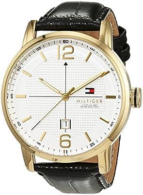 Caballeros-reloj analógico Casual Deportivo Tommy Hilfiger cuero de cuarzo 1791218