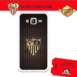 Funda Gel Flexible Sevilla F.C. para Samsung Galaxy J5, Carcasa TPU, protege y se adapta a la perfección a tu Smartphone. Licencia oficial Sevilla F.C.-Escudo2