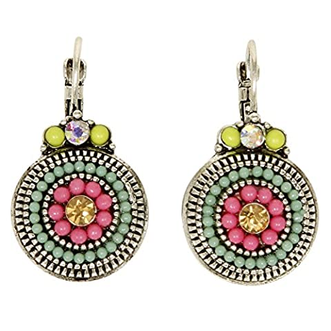 Vibrant Multicolore Boucles d'oreilles pendantes