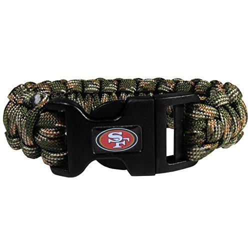 NFL Camo Survivor Armband, Unisex, grün (49ers Armband)