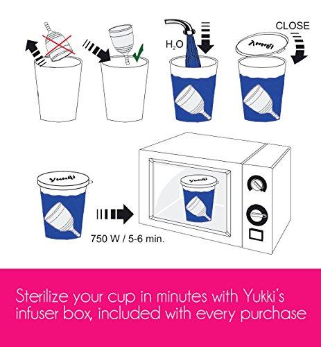 Yuuki soft 2 groß Silikon-Menstruations Tasse - 5