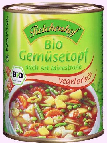 Reichenhof Gemüsetopf Minestrone Art vegan, 6er Pack (6 x 550 g) - Bio