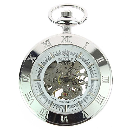 itemstoday-mens-archaize-steampunk-silver-mechanical-pocket-watch-with-chain-skeleton-open-face