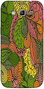 Snoogg vector abstract texture with abstract flowers endless background ethnic Hard Back Case Cover Shield For Samsung Galaxy Grand Quattro Win I8550