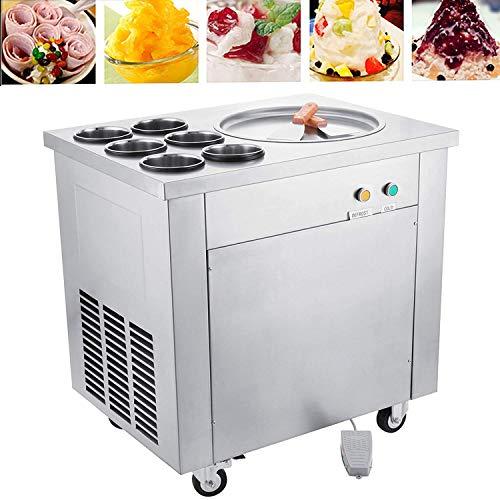 Hodoy macchina di gelato fritto creatore di gelato con 1 pan 6 benne 40cm pan 220v (piatto singolo)