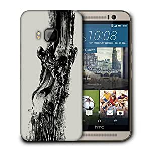 Snoogg Abstract Samurai Designer Protective Back Case Cover For HTC ONE M9