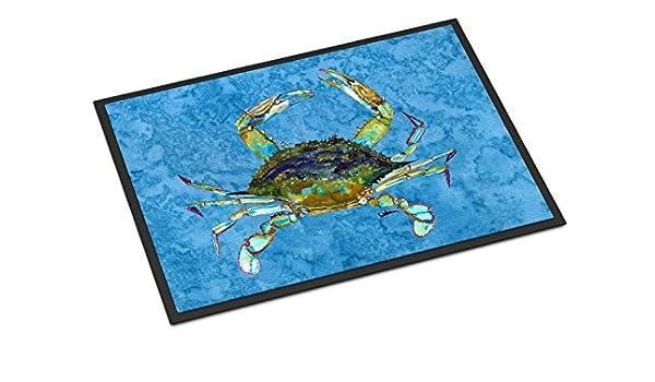 18 x 27 Carolines Treasures 8151-MAT Crab Indoor or Outdoor Doormat Multicolor