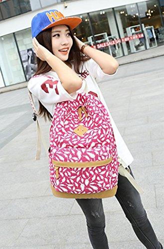 Ghlee filles dames sac à dos occasionnels sac à bandoulière nouvelle sac à bandoulière de mode sac à bandoulière multifonctions sacs à dos simple étudiants de collège Rose