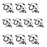 BestFaceŽ-10 Pack Earpiece Headset Mic for Baofeng Uv-5r Series 666s 777s 888s Two-way Radio