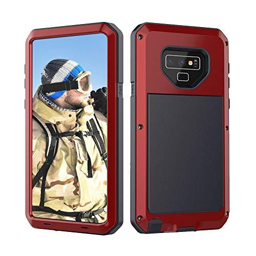 Beeasy Samsung Galaxy Note 9 Hülle,360 Grad Fallschutz Handyhülle Outdoor Case Hybrid Rüstung Schlagfest Stoßfest Schutzhülle Robust Cover Tough Armor Doppelte Schutzschicht Heavy Duty Kratzfest,Rot