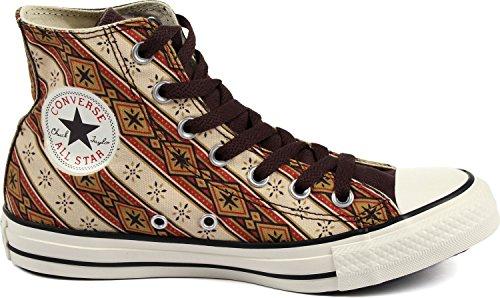 Converse - Chuck Taylor All Star Hi Chaussures Americana Imprimer Burnt Umber/Fire Brick/Willow