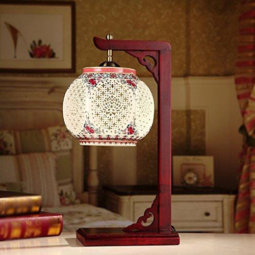 ZWL Tischlampe Klassische keramische Lampe Chinesische Wohnzimmer Forschung Dekorative Holz Tischlampe Fashion.z