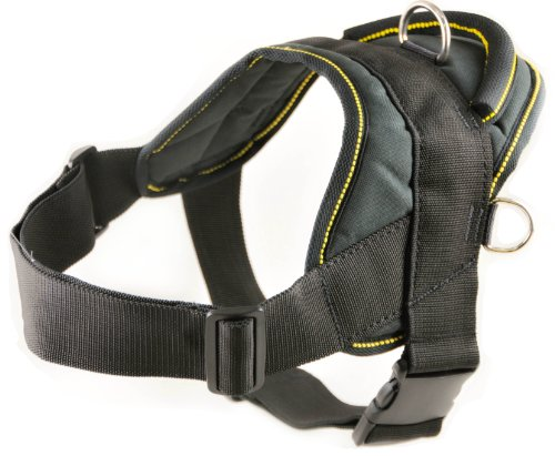 Dean-Tyler-DT-Dog-Harness-with-Trim-XL-Black-Yellow