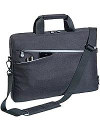 """PEDEA Notebooktasche """"Fashion"""" für 17,3 Zoll (43,9cm) mit Zubehörfach und Schultergurt, schwarz"""