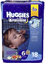 Huggies Overnites Diapers - Jumbo Pack - Size 6 - 18 ct