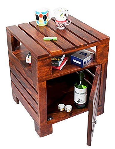 TimberTaste Planko Solid Wood Side Table (Teak Finish)  available at amazon for Rs.7800