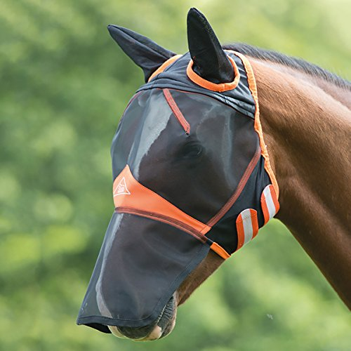 Shires New Fine Mesh with Ears and Nose Extension Fly Mask