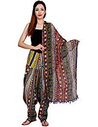 Rama Multi Color Floral Print Cotton Full Printed Patiala Dupatta Set