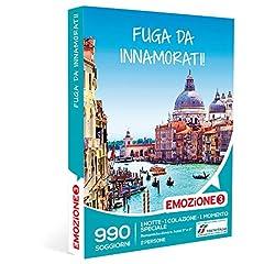Idea Regalo - Emozione3 - Cofanetto Regalo - Fuga da Innamorati! - 990 soggiorni in Hotel 3 e 4 Stelle in Italia