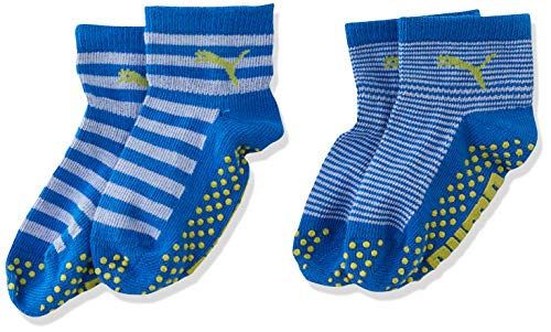 PUMA Kinder Baby Sock ABS 2P , Blue Green Combo 634 , 15-18