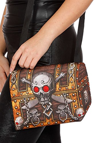 Piratentasche Tasche Umhängetasche Pirat Schatz Schatzkiste Piratin Bag Karneval
