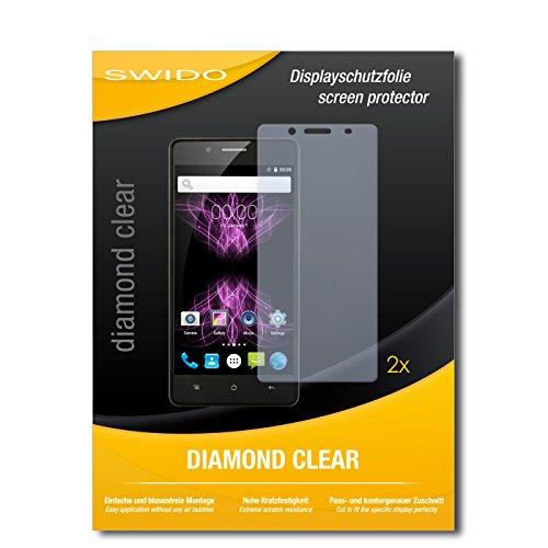 SWIDO 2 x Bildschirmschutzfolie Cubot X16 Schutzfolie Folie DiamondClear unsichtbar