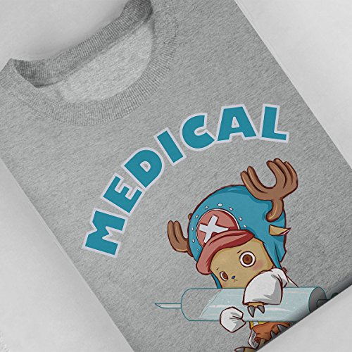 Tony Tony Chopper Medical Approval One Piece Women's Sweatshirt Heather Grey