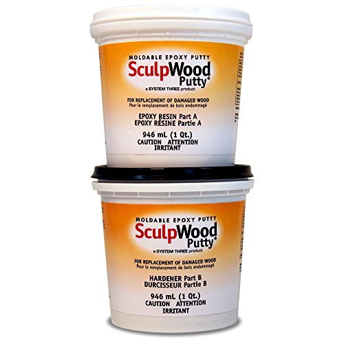 System Three 1600K20 Brown SculpWood Putty Kit, 0.5 gal Tubs by System Three -