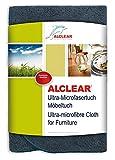 ALCLEAR A257343M Ultra-Microfasertuch Premium Möbeltuch, 40 x 40 cm, Anthrazit