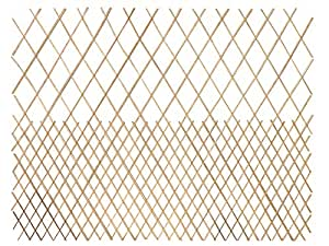Master Garden Products geschälte Weide Top Offen Muster Gitter Zaun, 72von 122cm, mahagoni hell Farbe